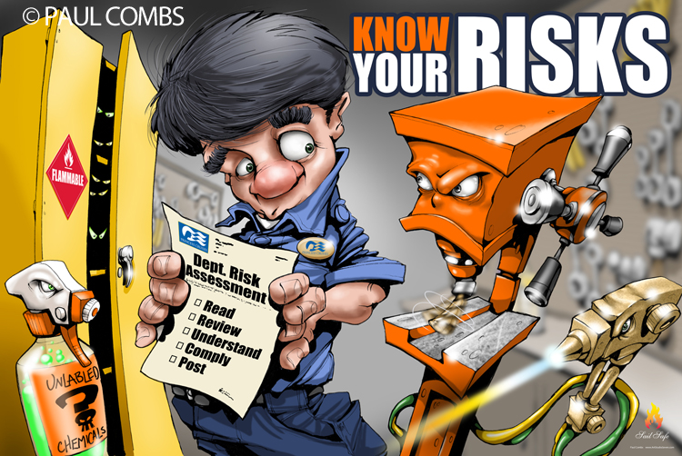 Safety poster 10 rules for workplace safety safety poster shop - New Safety Posters Drawn By Fire